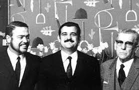 Lionel et Bernard LEROY avec leur père Adolphe (Archives Leroy Merlin)